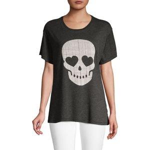 NWT Wildfox Skull Printed Manchester T-Shirt Top
